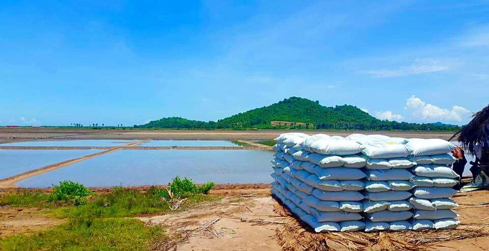 Salt Flat Salt Flats Salt Flats Rural Rural Scene Kampot, Cambodia Novice Photography Novice Landscape Sack Sacks Bags Of Salt Cambodia