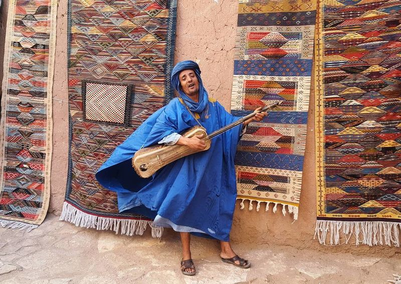 Full Length Music Traditional Clothing Front View One Person Portrait Musical Instrument Outdoors Only Men One Mature Man Only Adult Musician Looking At Camera Real People Adults Only Day Architecture People Maroc People Marocaine Culture