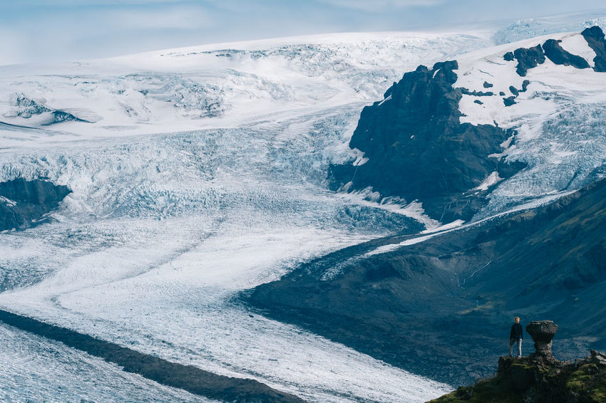 The Skaftafellsjökull in Iceland. 90mm Iceland National Park Beauty In Nature Cold Temperature Day Fuji Fujifilm Full Length Landscape Leisure Activity Men Mountain Nature Outdoors People Real People Scenics Skaftafell Skaftafellsjökull Sky Snow Two People Winter X-t2 My Best Travel Photo