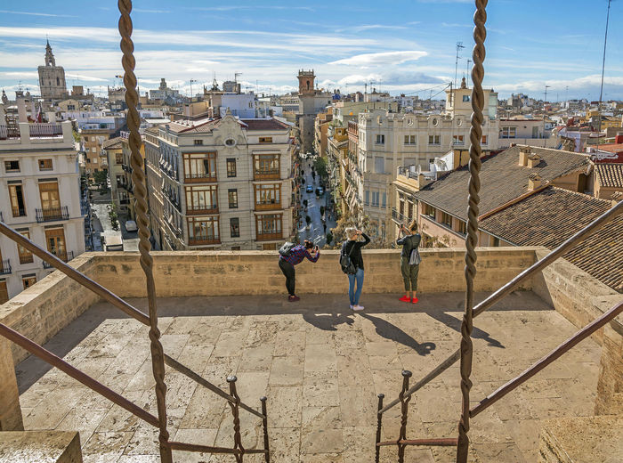 Visiting Serrano Tower ,historical building in Valencia, Spain Architecture Architecture Beautiful Building Building Exterior Built Structure City City Day Girls Human Body Part Lifestyles Outdoors People Real People Serrano Sky The City Light Tourism Tourist Tourist Attraction  Tourists Tower Travel