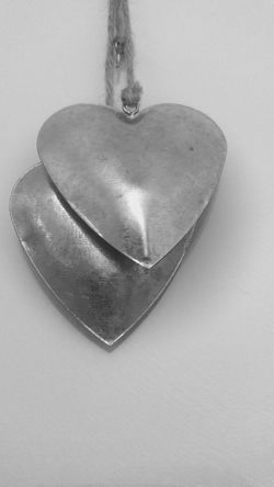 Hearts Two Hearts Ornament Black And White Black And White Photography Black & White Heart Shape Silver Hearts
