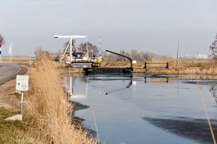 Ice Nature Winter Bridge Day Flood Defence Holland Holland Scene Nature No People Outdoors Water Waver