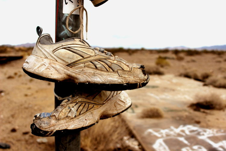 Chance Encounters Feel The Journey Hot Arizona Creepy Places Desert Focus On Foreground Old Road Trip Shoe Shoes Somewhere In Nowhere Summer Sun Tour Travel Traveling United States Vacation
