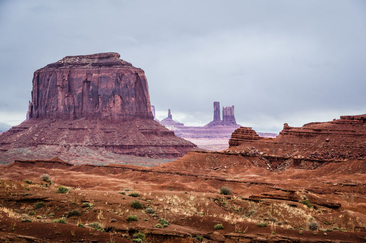 Cloud - Sky Day Landscape Monument Valley Tribal Park Mountain Nature No People Outdoors Overcast Rock - Object Rock Formation Sky Travel