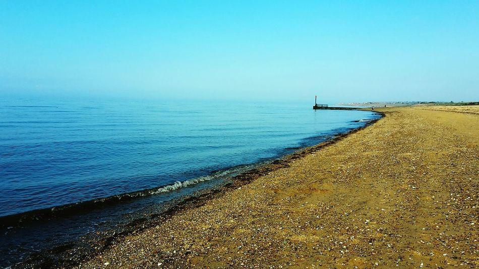 King's Lynn Beach Sea Water Sky Tranquil Scene Outdoors Day Beauty In Nature Blue Sea Horizon Over Water No People