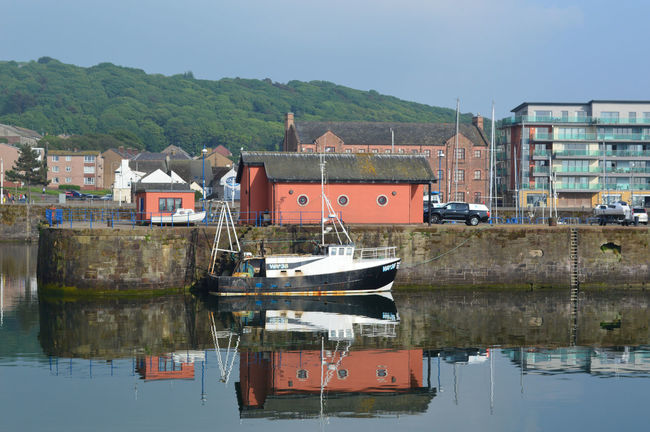 Calm Cumbria Coast Harbour Architecture Building Building Exterior Built Structure Calm Water Day Fishing Boat Nature Nautical Vessel No People Outdoors Reflection Residential District Sailboat Sanctuary  Seaside Seaside Town Sky Water Waterfront Whitehaven Whitehaven Habour