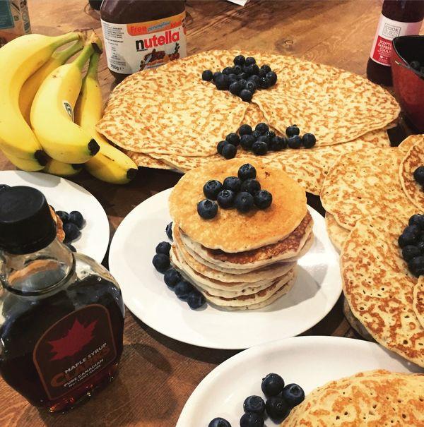 Pancakes Pancakeday Shrove Tuesday Blueberries Maple Syrup Nutella Bananas London