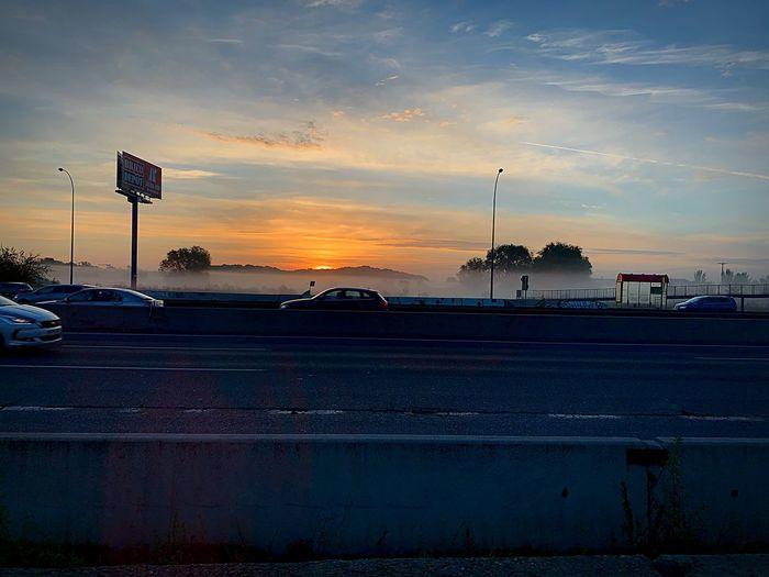 Road foggy