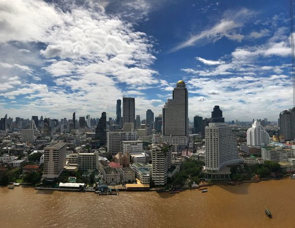 Bangkok Cityscape No People Day Outdoors Skyscraper Architecture Cloud - Sky Building Exterior Built Structure Modern Urban Skyline Travel Destinations Travel Photography