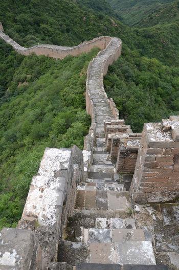 Great wall of china on mountains at jinshanling