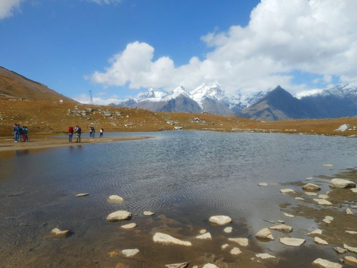 Rohtang Pass, Manali Mountain Mountain Range Sky Cloud - Sky Snow Snowcapped Mountain Landscape Beauty In Nature Outdoors Lake Scenics Nature