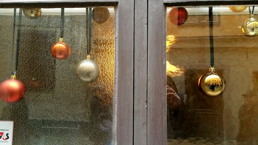 mirroring windows and me 😀 Christmas Decorations Christmas Impression Stockholm, Sweden Windows Urbanphotography Open Edit Taking Photos Window Reflections WindowsPhonePhotography Window View Hanging Window Door Close-up No People