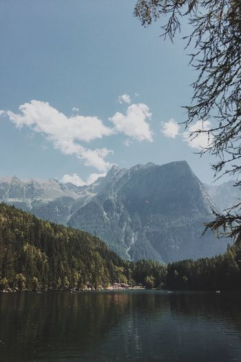 Sunny day in the alps Mountain Alps Forest Sunny Day VSCO Picoftheday Lake Nature Vscocam