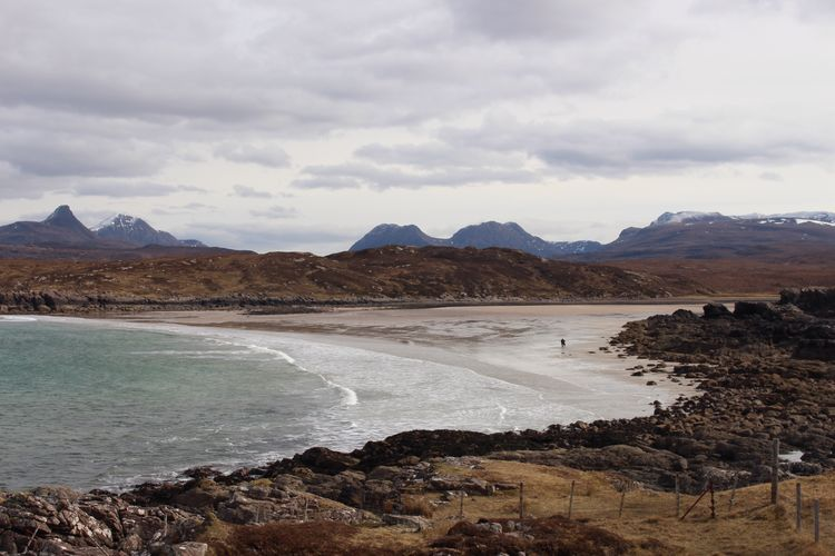 Beach with a view! Altandhu Scottish Highlands Hikingadventures Hiking Mountain Water Cloud - Sky Sky Scenics - Nature Beauty In Nature Tranquil Scene Tranquility Sea Beach Mountain Range