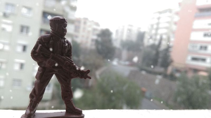 Toy Soldier Snow Snow ❄ Soldier Soldiers Toys Brown White Wheather Cold Cold Winter ❄⛄ Photography HTC_photography HTCDesireEye