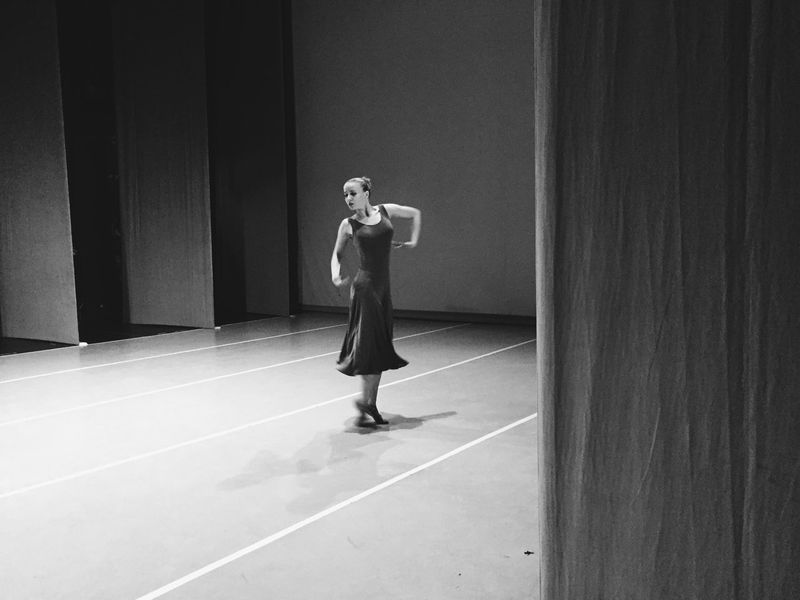 Real People One Person Lifestyles Indoors  Dance Dancer Performance Stage Photography Blackandwhite Movement Inspiration Emotions Girl Dress Woman Art Lines Character Charm