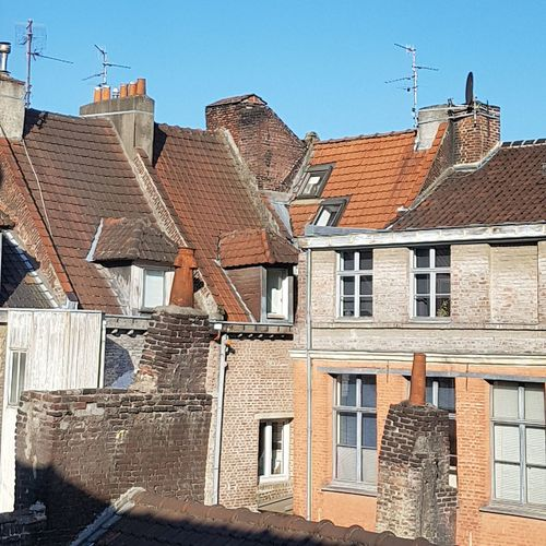 Lille France Flanders Rooftop Roofs Architecture Buildings Chimneys Stories From The City