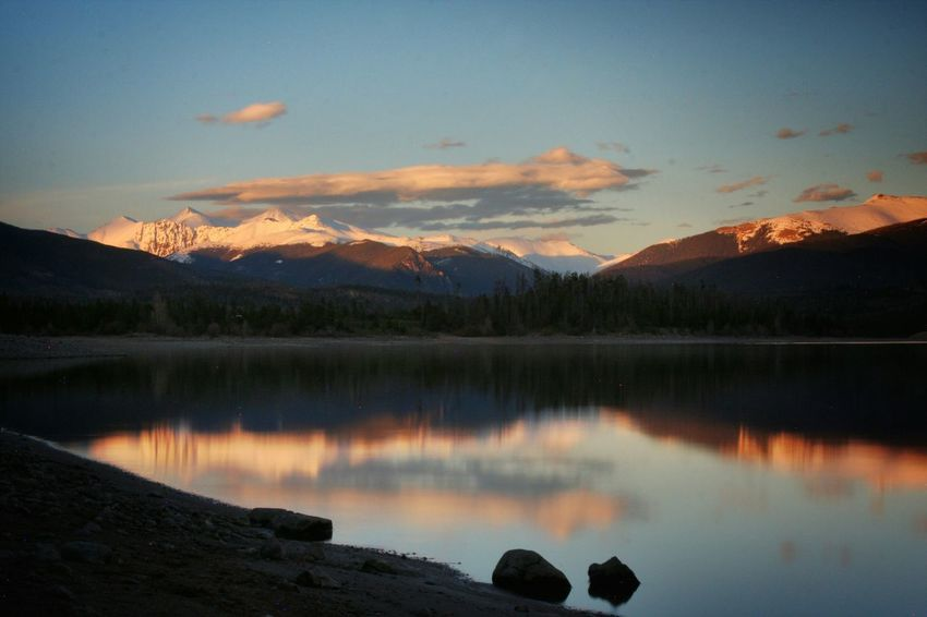 Long Exposure Water Landscape Lake Mountains Coloradogram Sunset The Great Outdoors - 2015 EyeEm Awards Reflection The Adventure Handbook My Best Photo 2015