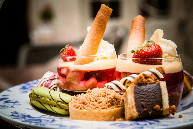 High Tea At Coombe Abbey Cakes High Tea Triffle Cake Close-up Coombe Abbey Day Food Freshness Fruit Healthy Eating History Hotel Indoors  Indulgence No People Plate Ready-to-eat Selection SLICE Strawberry Sweet Food Temptation Triffle Warwickshire
