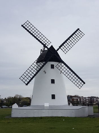Lytham Windmill Business Finance And Industry Sky Grass Architecture Built Structure