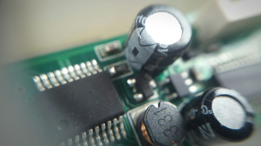 Extreme close up of electronic chip