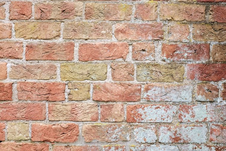 Full Frame Pattern Backgrounds Textured  Brick Wall Architecture Built Structure