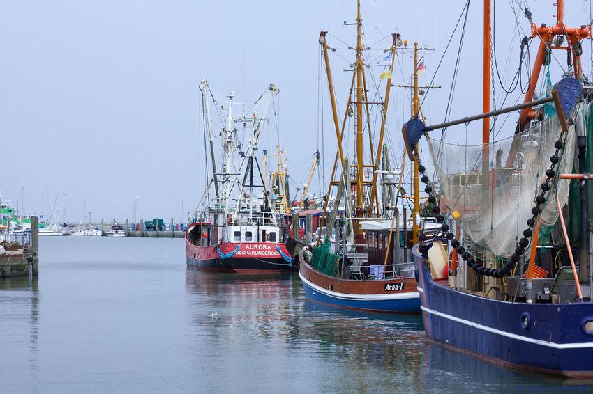 Good Morning Northsea Seaside Harbour Fishing Boats Neuharlingersiel Nordseeküste Travelphotography