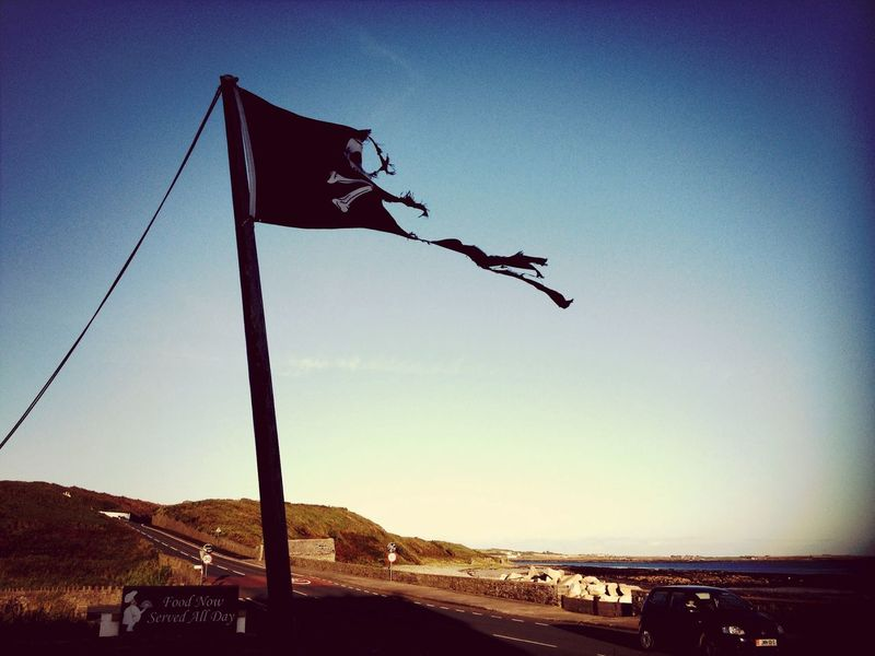 Pirate flag shredded by wind Pirate Flag Jolly Roger