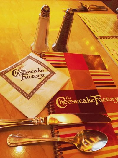 Lunch time! Lunch Time! Cheescake Factory