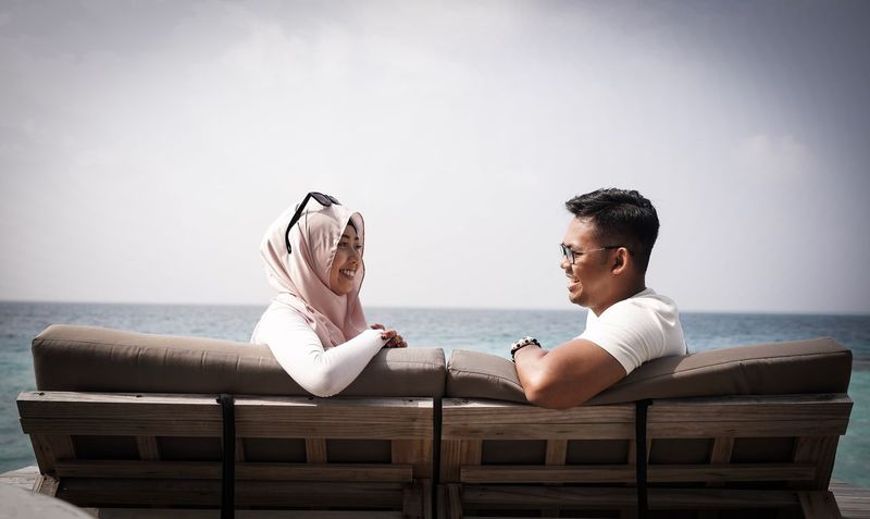 You will always be the person I enjoy to talk to always. Love Beach Love Wedding Vacations Husband And Wife Eternity Newlyweds Couple Eye4photography  Vacations The Week On EyeEem Maldives Honeymoon Outdoors