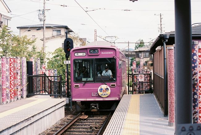 Randen arriving at Arashiyama Station Analogue Photography Arashiyama Connection Film Photography Japan Land Vehicle Leading Mode Of Transport Narrow On The Move Perspective Pink Public Transport Public Transportation Rail Transportation Railroad Track Railwaystation Randen Speed Street The Way Forward Train Train Arriving In Station Sunset Tramway Transportation