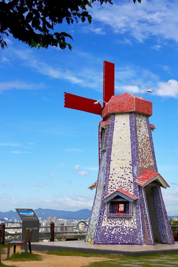 Sky Cloud - Sky Architecture Built Structure Day Low Angle View No People Outdoors Building Exterior Nature Windmill I Want To Know Your Secret, C I Always Thinking About U, G Thank You,❤️ 감사합니다