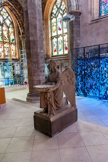 Edinburgh, Views of the city, several monuments and the Castle, Scotland, UK Angel Architecture Church Day Estatua Indoors  No People Protestant Church Sculpture Statue