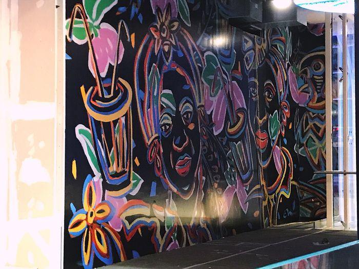 Graffiti Multi Colored Creativity Wall - Building Feature Illuminated Craft City Glowing Outdoors Motion Architecture Representation Night No People