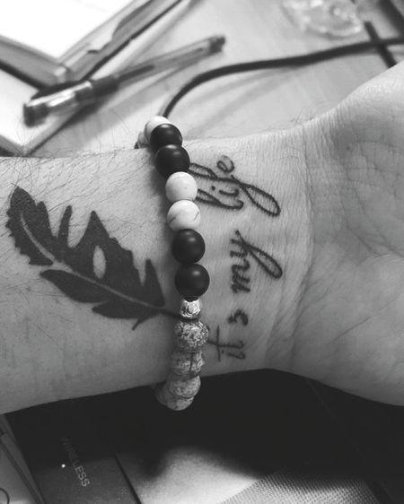 Dovme Tattoo Bileklik My Life Siyahbeyaz Blackandwhite