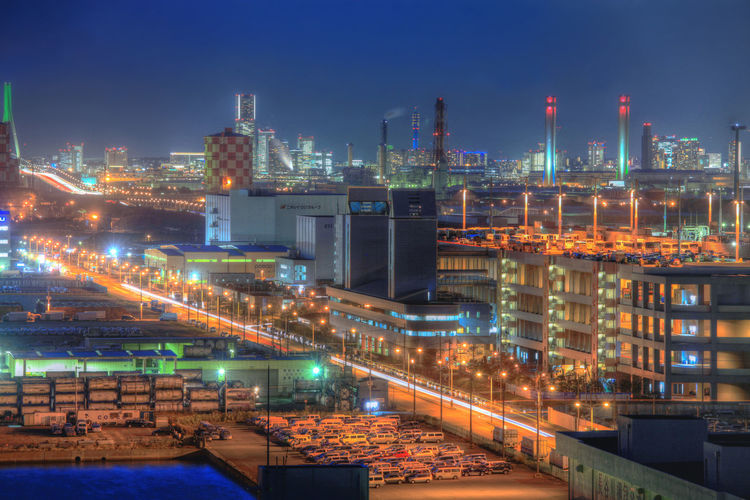 factory in japan Architecture Building Exterior Built Structure Business Chemical Plant Factory Freight Transportation Fuel And Power Generation Illuminated Industry Long Exposure Nature Night No People Oil Industry Oil Refinery Outdoors Pollution Refinery Sky Skyscraper Smoke Stack Transportation