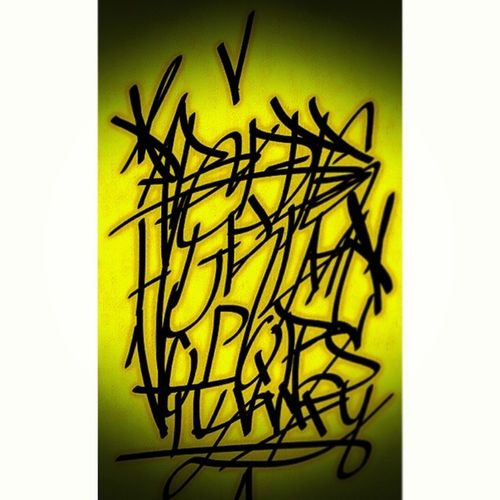"""ALPHABET"" . . Artisnotcrime Art Graffiti Street Art Wall Yellow Black Alphabet No_crop . . @unforgivon @graffitiartspray @ghost4graffiti @_graffiti_and_tags_ @joker.graffiti @graffiti . . My hans style"