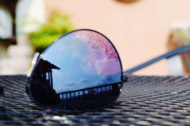 Playing around with reflects... Reflects Sunglasses Glasses Collection Clouds Beautiful Day New Camera, First Photo