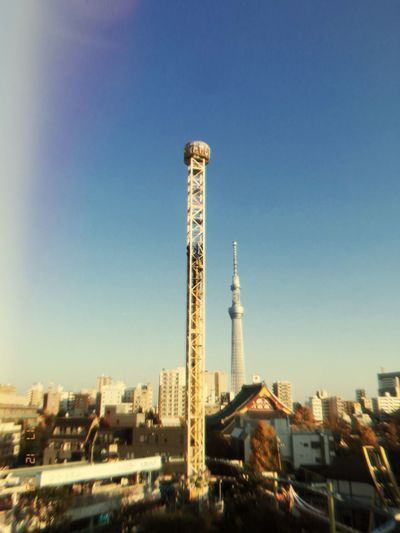 Film 遊園地 花屋敷 Asakusa Built Structure Architecture Building Exterior Tall - High Tower City No People Clear Sky Blue Sky Tall