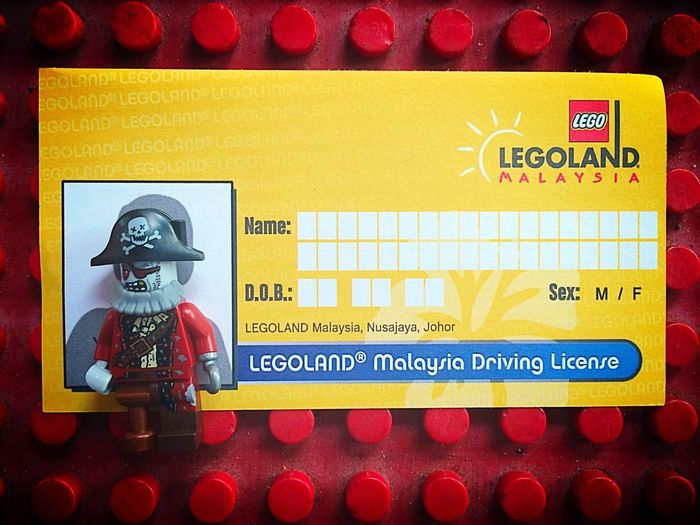 Captainbarbossa taking Driving Provisional Liscence Legoland Malaysia Arrrrr