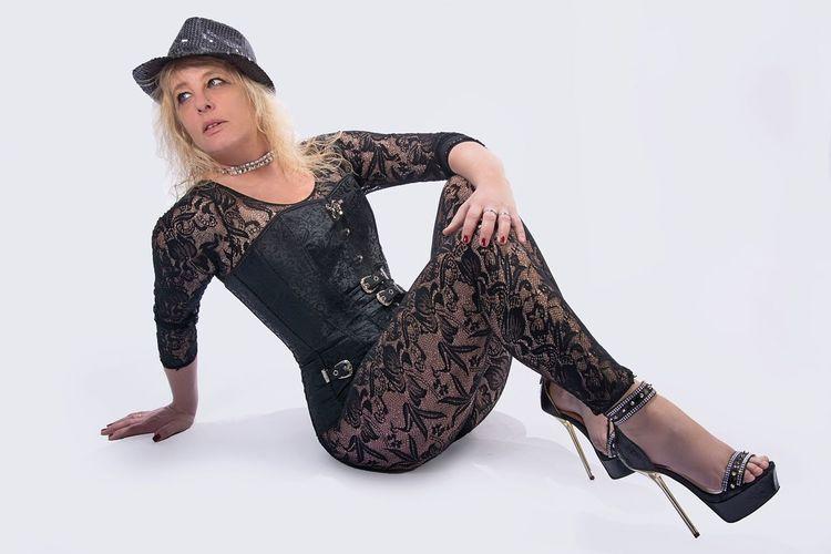 Korsett Sexywomen Feet Nude_model Woman Who Inspire You Hat Sexygirl High Heels Sternfee Good Morning Goodnight Studio Shot White Background Hat