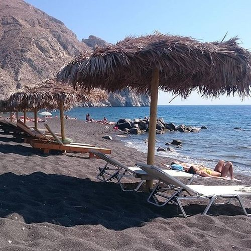 Perissa Santorini Greece Blackbeach