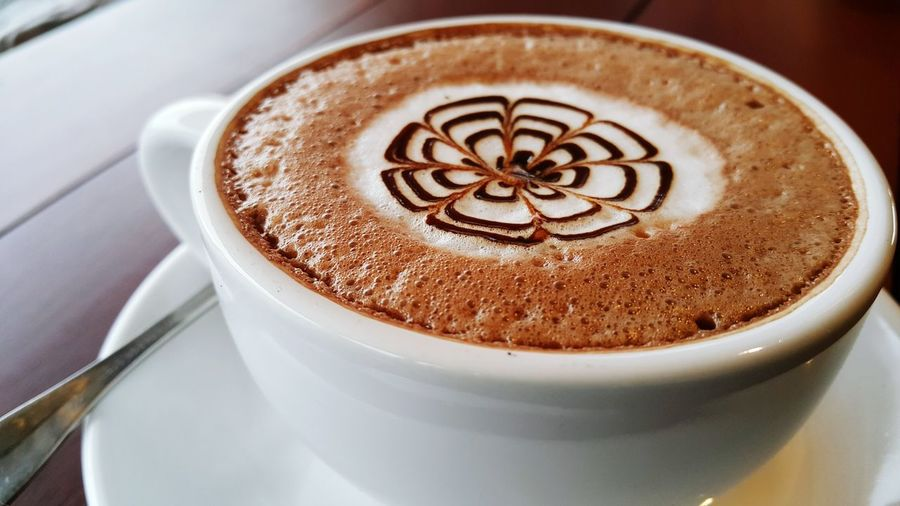 Drink Coffee Cup Cappuccino Latte Frothy Drink Refreshment Froth Art Food And Drink Mocha Close-up Espresso Milk Day Morning coffee