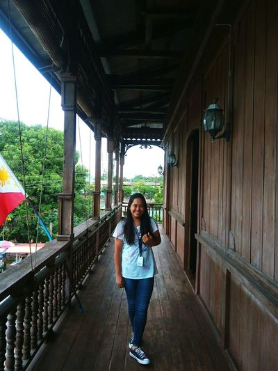 It was nice having a picture one of the oldest house in Dapitan City, Philippines Architecture Smiling Young Women