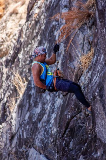 Extreme Sports Climbing Rock Face Rock Climbing Sport Adventure Mountain RISK Sports Helmet Clambering