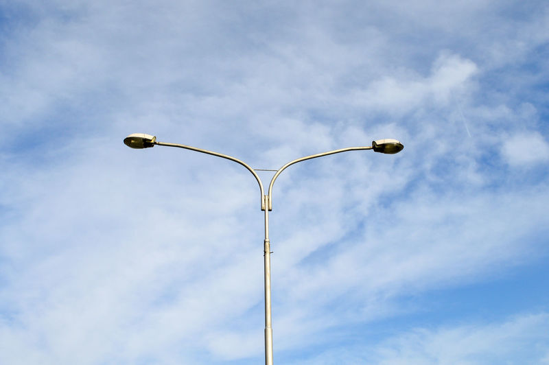 double Cloud - Sky Lamp Post Lighting Equipment Low Angle View Minimal Minimalism Minimalist Minimalist Photography  Minimalobsession Outdoors Simplicity Single Object Sky Street Lamp Urbanphotography