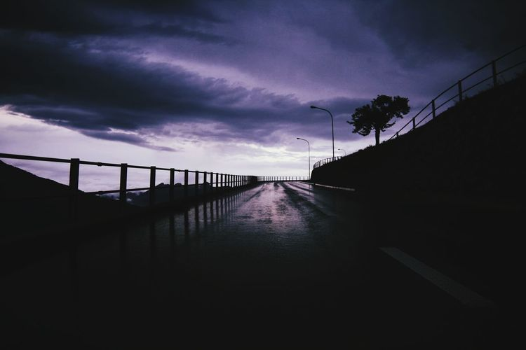 Before the storm... Liechtenstein Europe Rainy Bridge - Man Made Structure Railing Silhouette Cloud - Sky Overcast Empty Road Atmospheric Mood Dramatic Sky