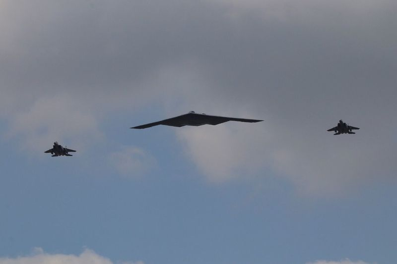 USAF B2 RIAT 2018 Royal International Air Tattoo RIAT USAF B2 Bomber United States Air Force B2 Stealth Bomber B2 Flying Sky Low Angle View Mode Of Transportation Air Vehicle Mid-air Airplane