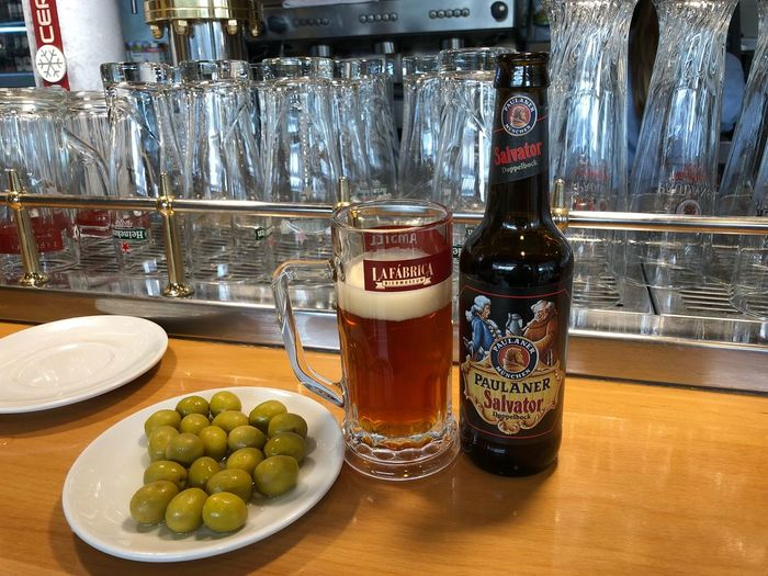Cerveza Beer Food And Drink Bottle Indoors  Food No People Table Drink