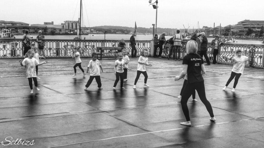 Taking Photos People Watching Riverside Dancers